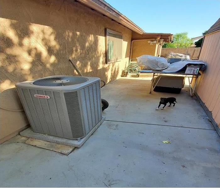 clean side of house showing A/C unit