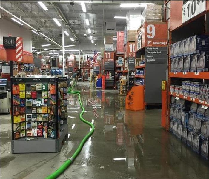 standing water on ground in home depot