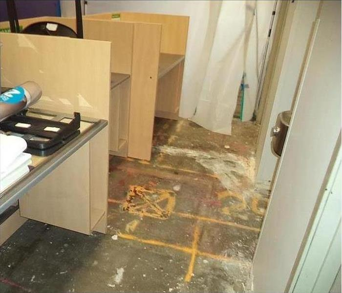 clean up after water flood in bathroom